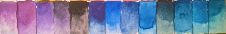 52 Colour Chart - 2017 - Violets and Blues