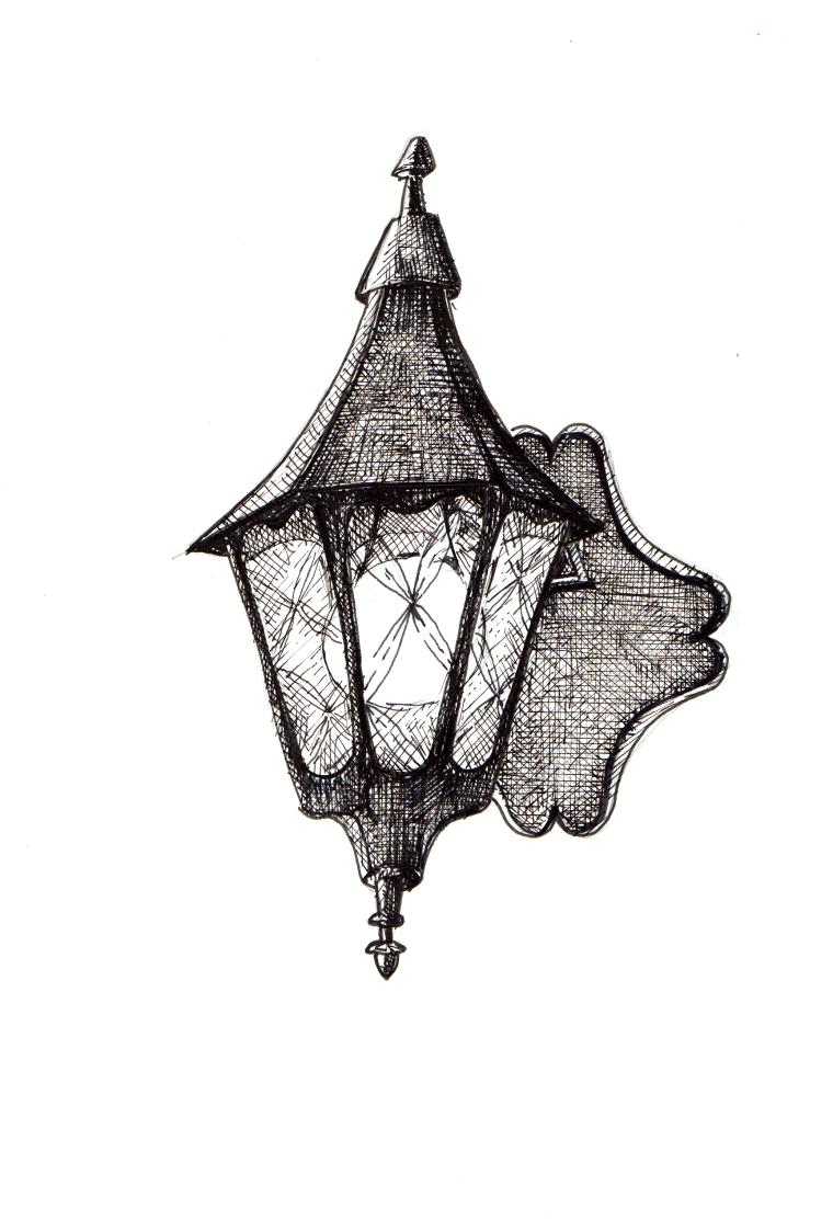 Gothic Lantern Wall Sconce